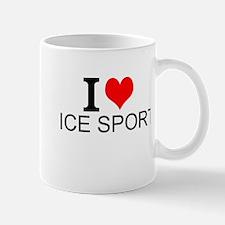 I Love Ice Sports Mugs