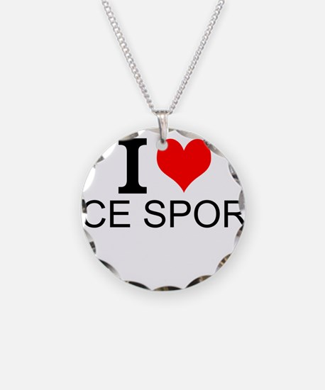 I Love Ice Sports Necklace