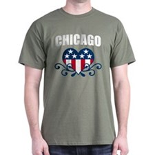 Chicago stars and stripes hea T-Shirt