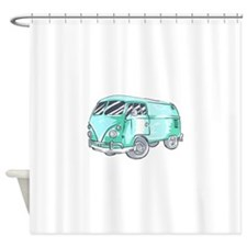 VINTAGE VAN, Shower Curtain
