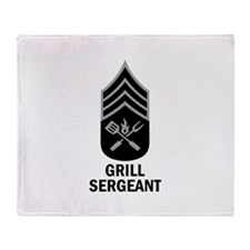 GRILL SERGEANT 2 Throw Blanket