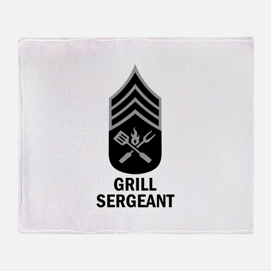 GRILL SERGEANT 2 Throw Blanket