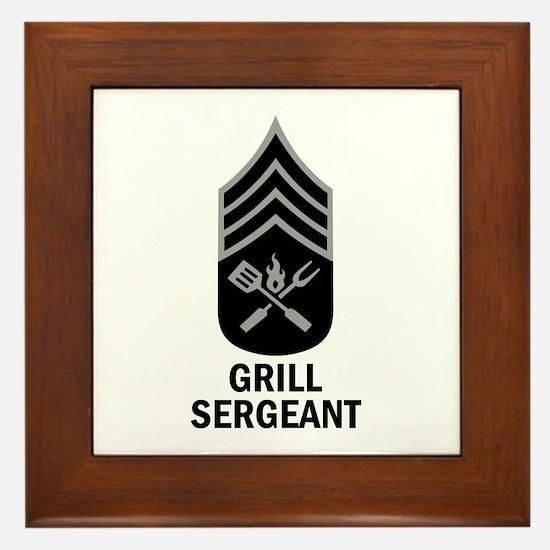 GRILL SERGEANT 2 Framed Tile
