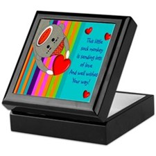 Sock Monkey Sick Child Keepsake Box