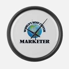 World's Most Clever Marketer Large Wall Clock