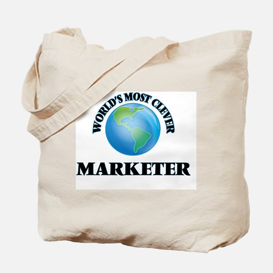 World's Most Clever Marketer Tote Bag