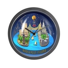 holiday snowglobe Wall Clock