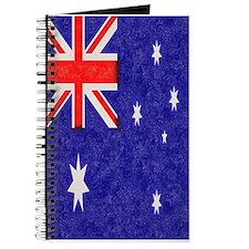 Vintage ink Australian Flag. Journal