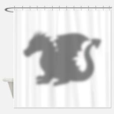 Dragon Silhouette Shower Curtain