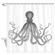 Vintage octopus Shower Curtain
