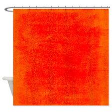 Bright Red Orange Grunge Shower Curtain