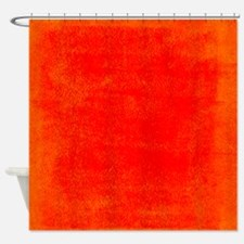 Bright Red Orange Grunge Shower Curtain
