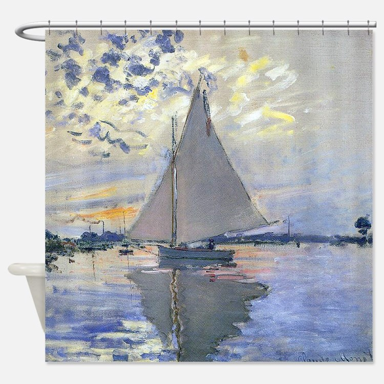 sailboat shower curtains | sailboat fabric shower curtain liner