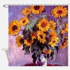 Monet Sunflowers Shower Curtain