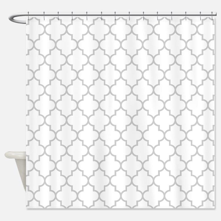 Grey Moroccan Shower Curtains Grey Moroccan Fabric Shower Curtain Liner