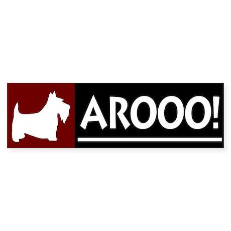 AROOO! SCOTTIE Bumper Sticker