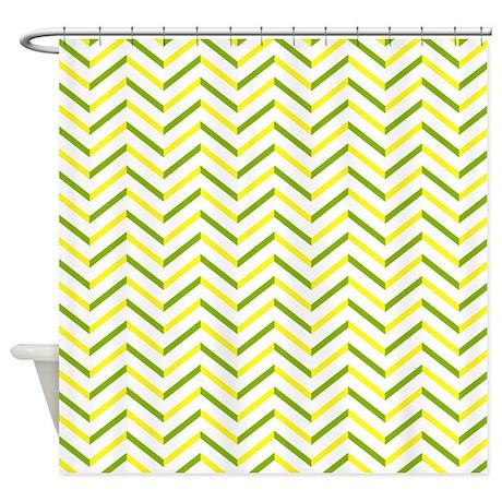 Green Yellow Chevron Shower Curtain By Admin CP2452714