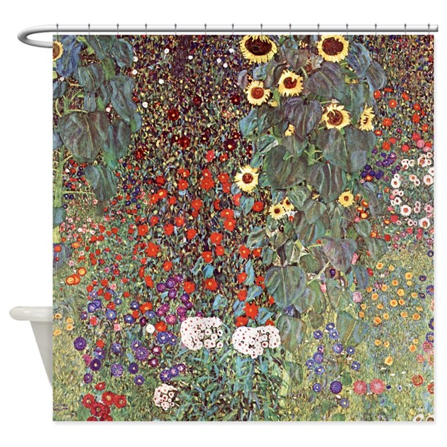 Country Garden With Sunflowers Shower Curtain By Admin