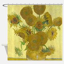 Van Gogh Sunflowers Shower Curtain