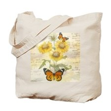 Sunflowers and butterflies Tote Bag