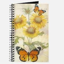 Sunflowers and butterflies Journal