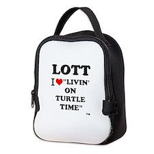 Lott I Love Livin' On Turtle Neoprene Lunch Bag