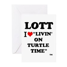 Lott I Love Livin' On Turtle Time Greeting Car