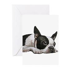 Pondering Boston Terrier Greeting Cards (Pk of 20)