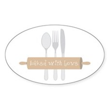 Baked with Love Decal