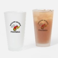 YELLOWJACKET FOOTBALL Drinking Glass