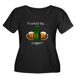 Fueled b Women's Plus Size Scoop Neck Dark T-Shirt