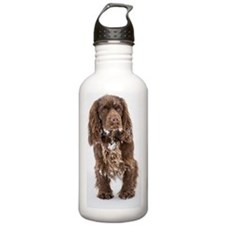 Snowy Sussex Spaniel Water Bottle