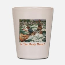 Banjo Music White Water Shot Glass