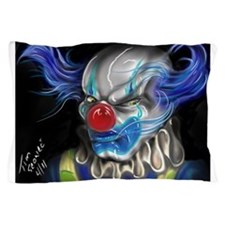blue haired clown Pillow Case