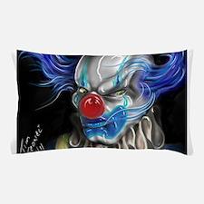 blue haired clown Pillow Case