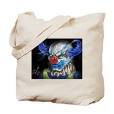 blue haired clown Tote Bag