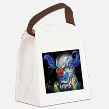 blue haired clown Canvas Lunch Bag