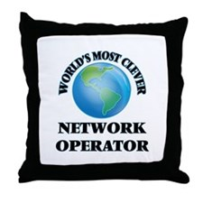 World's Most Clever Network Operator Throw Pillow