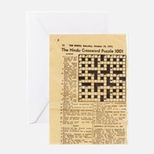 crossword puzzle Greeting Cards