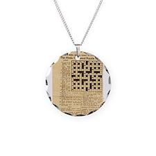 crossword puzzle Necklace
