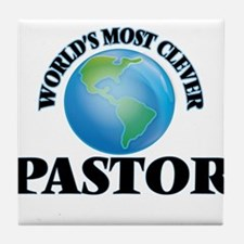 World's Most Clever Pastor Tile Coaster