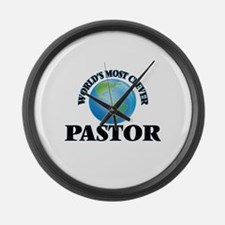 World's Most Clever Pastor Large Wall Clock
