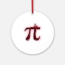Cute Cherry Pi Ornament (Round)