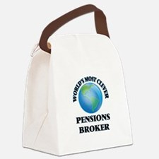 World's Most Clever Pensions Brok Canvas Lunch Bag