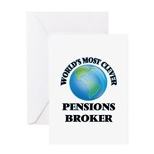 World's Most Clever Pensions Broker Greeting Cards