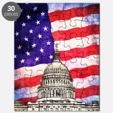 American Flag And Capitol Building Puzzle