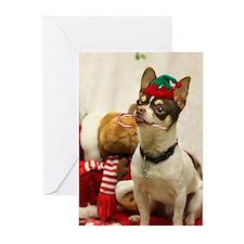 Christmas Chihuahua Dog Greeting Cards
