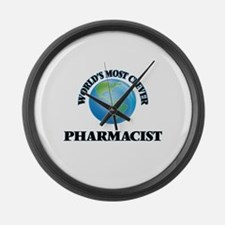 World's Most Clever Pharmacist Large Wall Clock