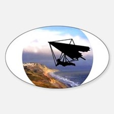 Hang Gliding Over the Calif Decal
