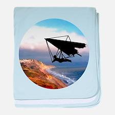 Hang Gliding Over the California Coas baby blanket